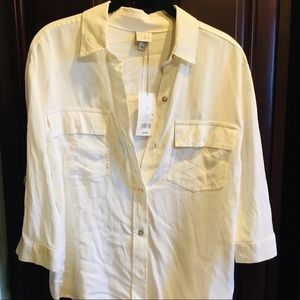 A New Day 3/4 Sleeve Utility Shirt - Small